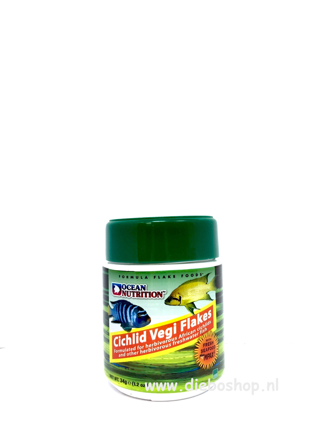 On Cichlid Vegi Flakes