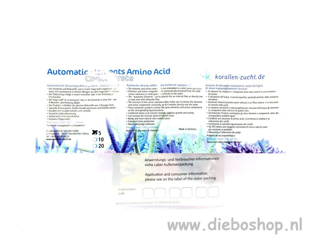 Korallen Zucht Auto Elements Amino Acid