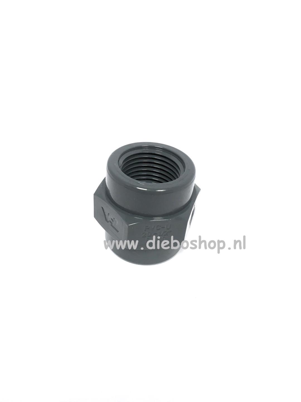 Loc-Line 1/2 Pvc Draadsok 20mm X Npt