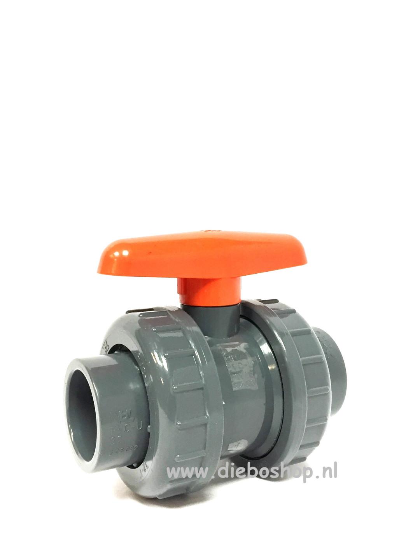 Pvc Kogelafsluiter 2X Inwendig Lijm 32mm