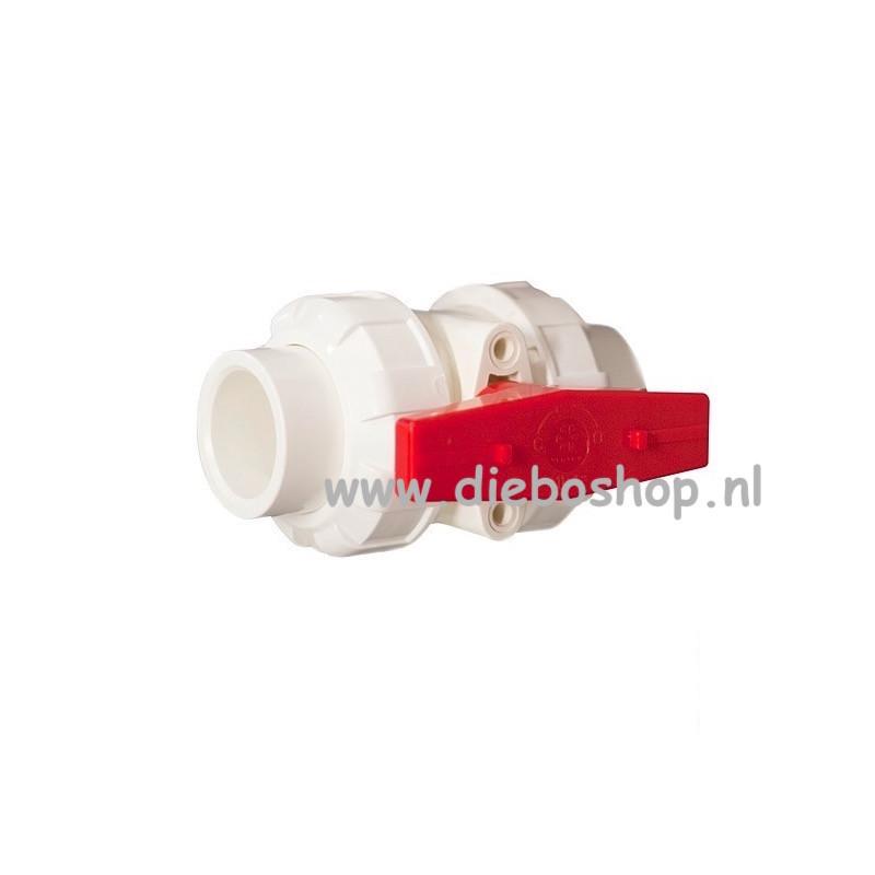Vertex Red Pvc Kogelkraan 20mm