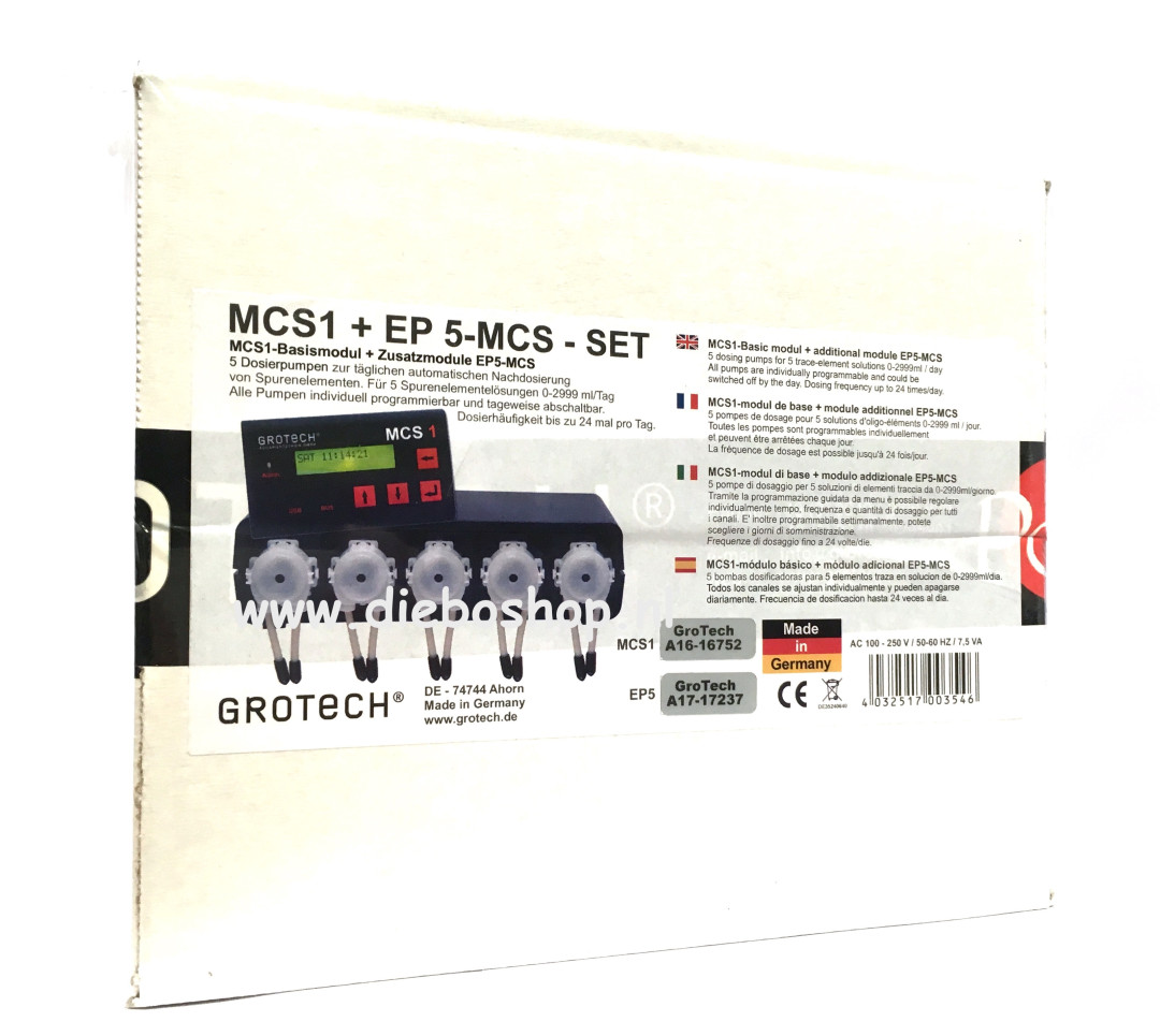 Grotech Dosing Pump MCS1+EP 5MCS 5 Channel Set
