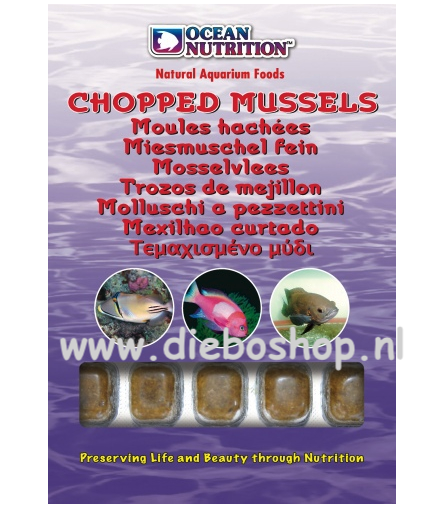 On Blister Chopped Mussel