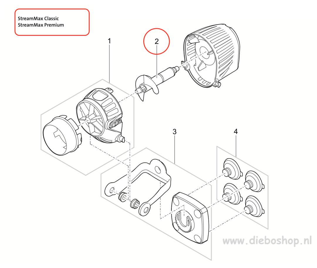 Oase Vervang Rotor Streammax 5000